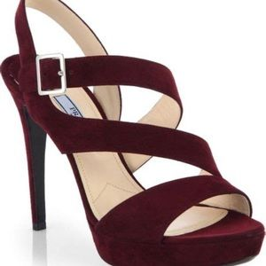 PRADA Stilettos Suede Sandals